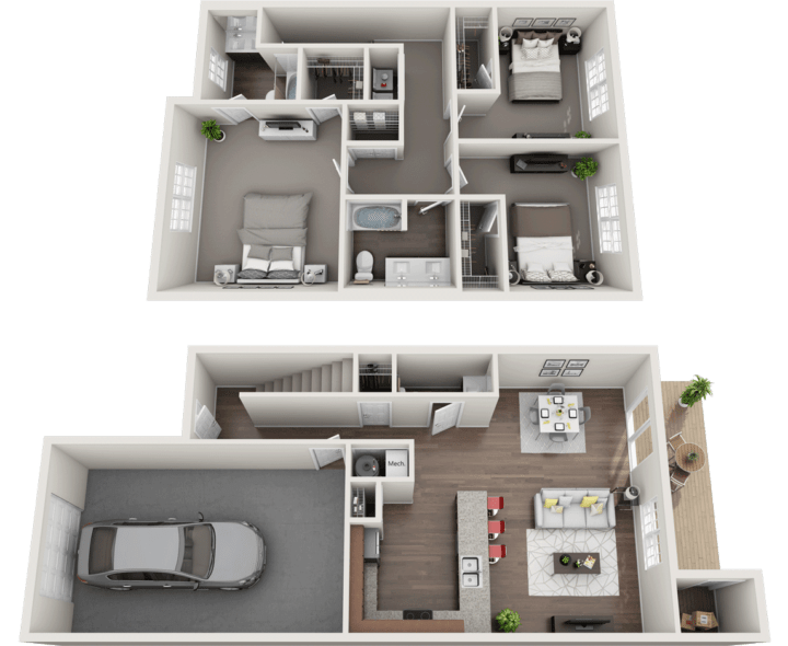 The Victorian Floor Plan, Regency Club Apartments, Evansville, IN
